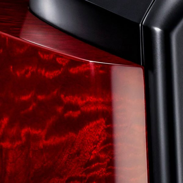 Beryl Red veneer, piano lacquer